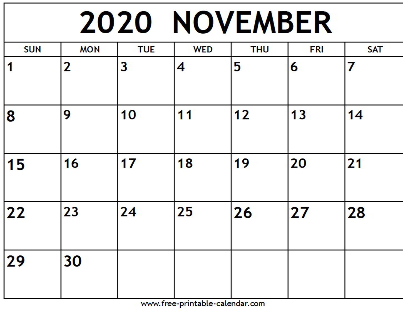 November November 2020 Calendar - Colona.rsd7