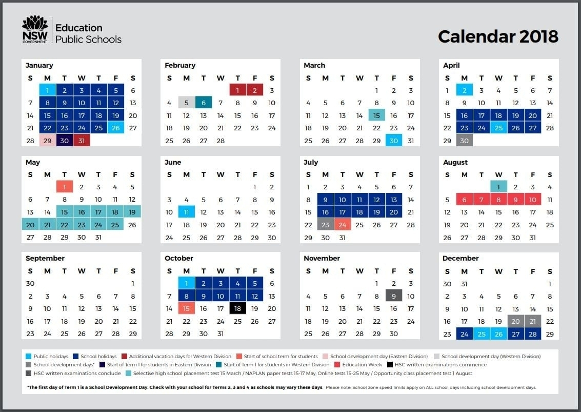 Nsw 2020 Printable Calendar | Month Yearly Calendar-2020