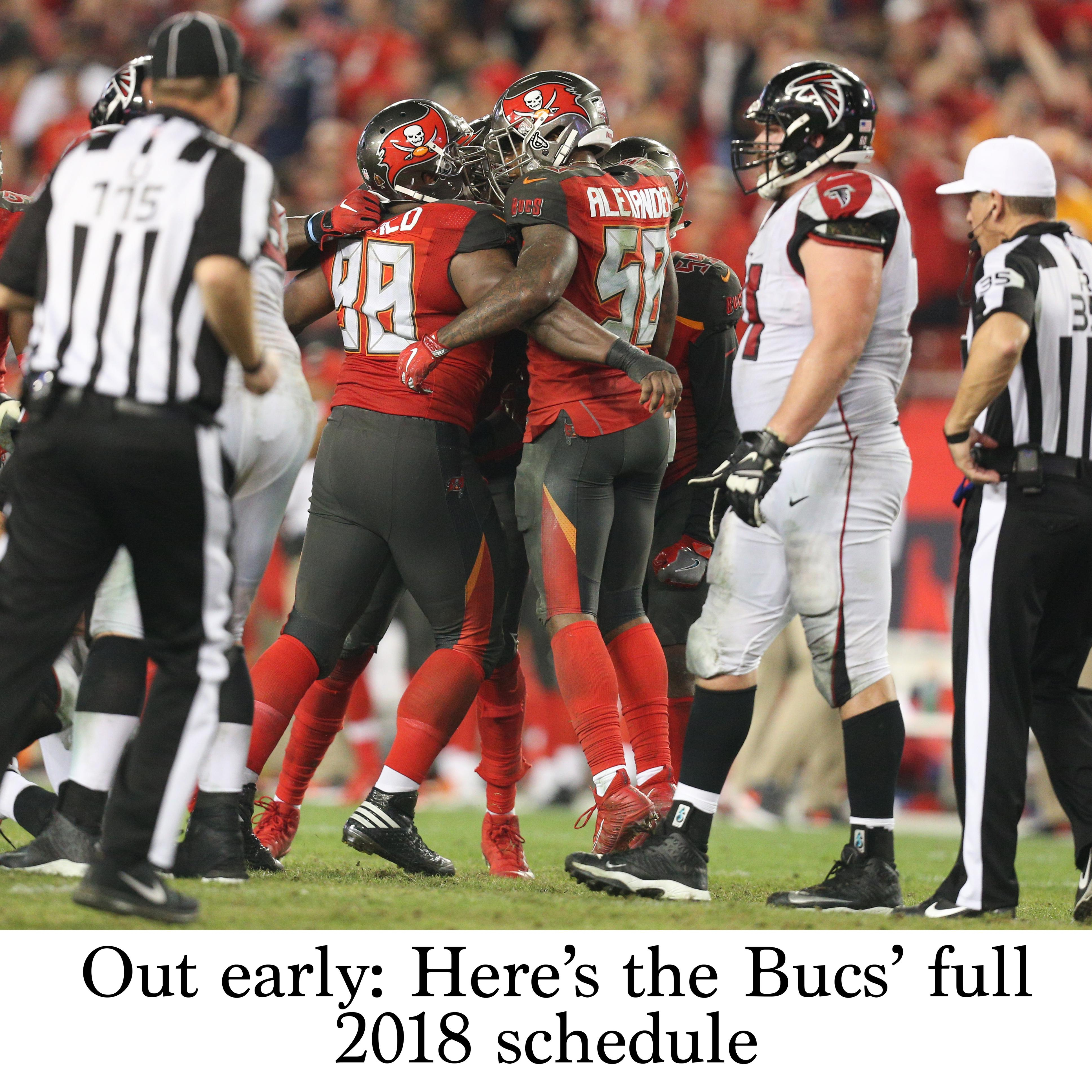 Out Early: Here's The Bucs' Full 2018 Schedule