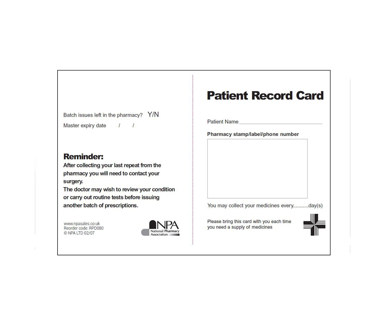 Patient Reminder Cards (Brain City):depo Provera Printable