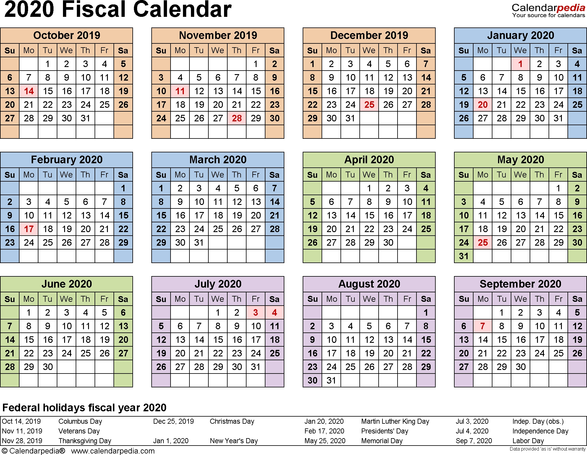 Payroll Calendar Dod 2020 | Payroll Calendar 2020