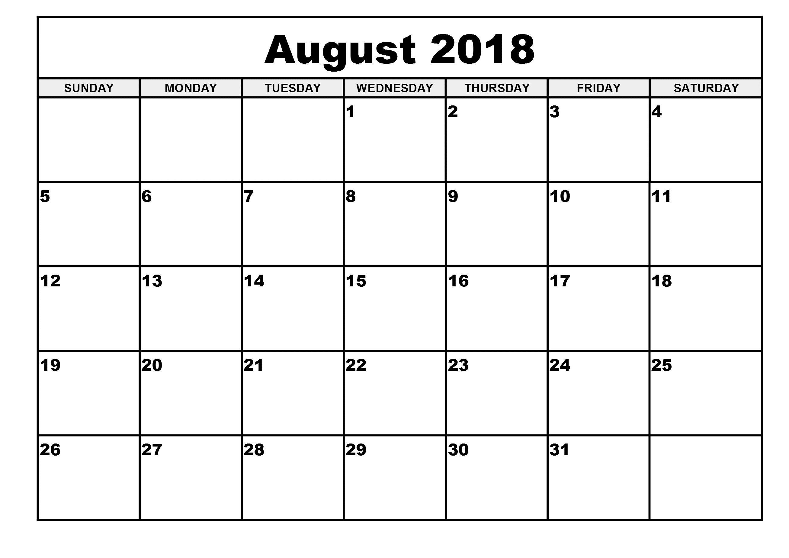 Pin4Khd On August 2018 Calendar Printable | November