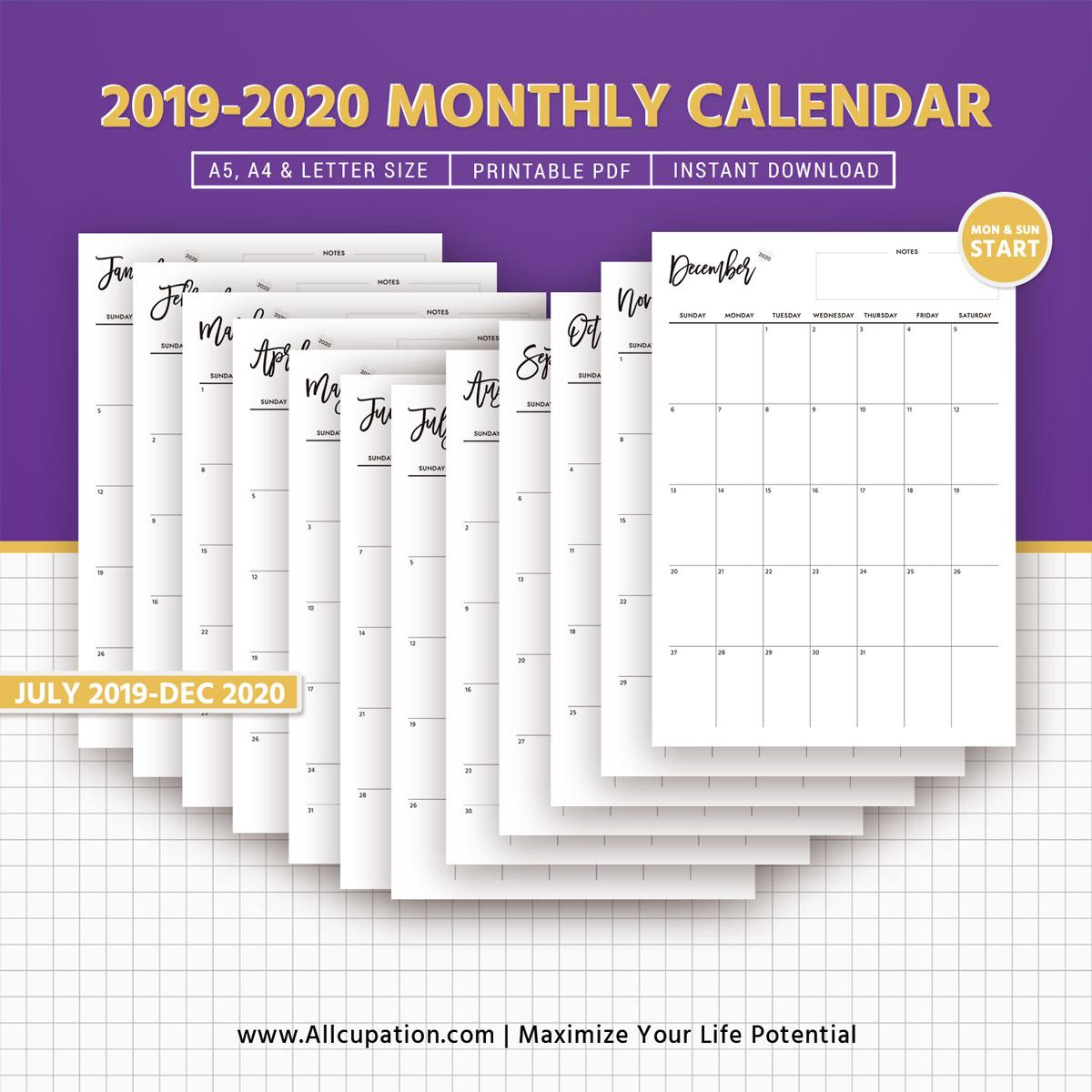 Planner 2019 Printable