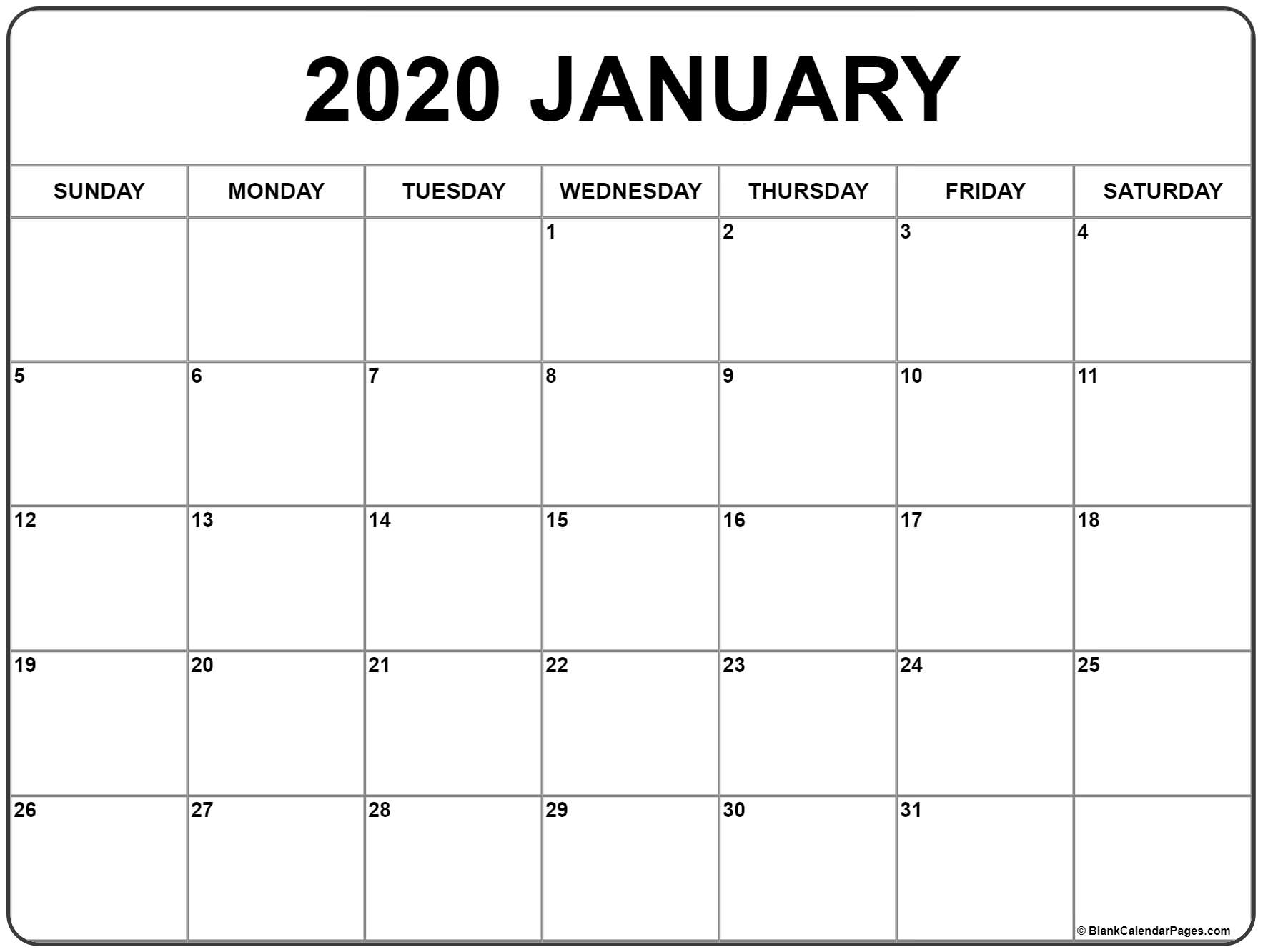 Print Jan 2020 Calendar - Tunu.redmini.co