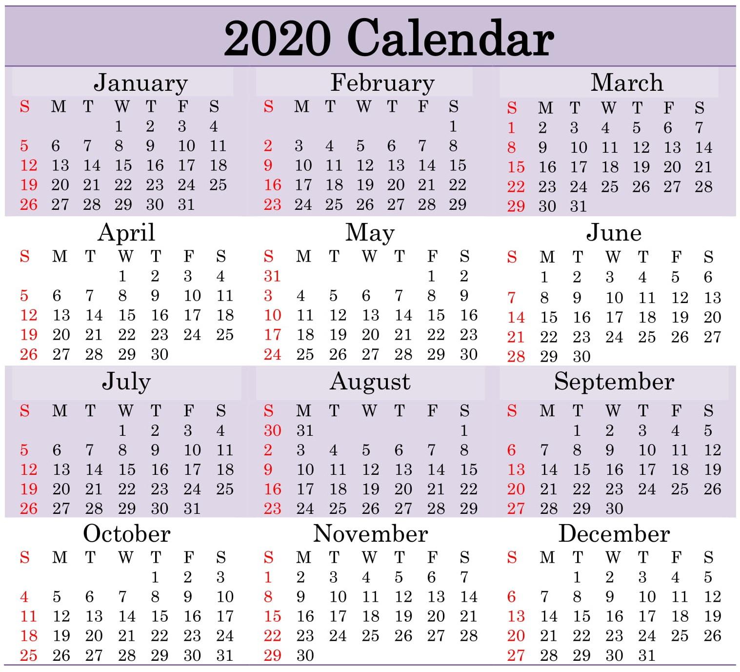 2020 August September Octobercalendar Monthly