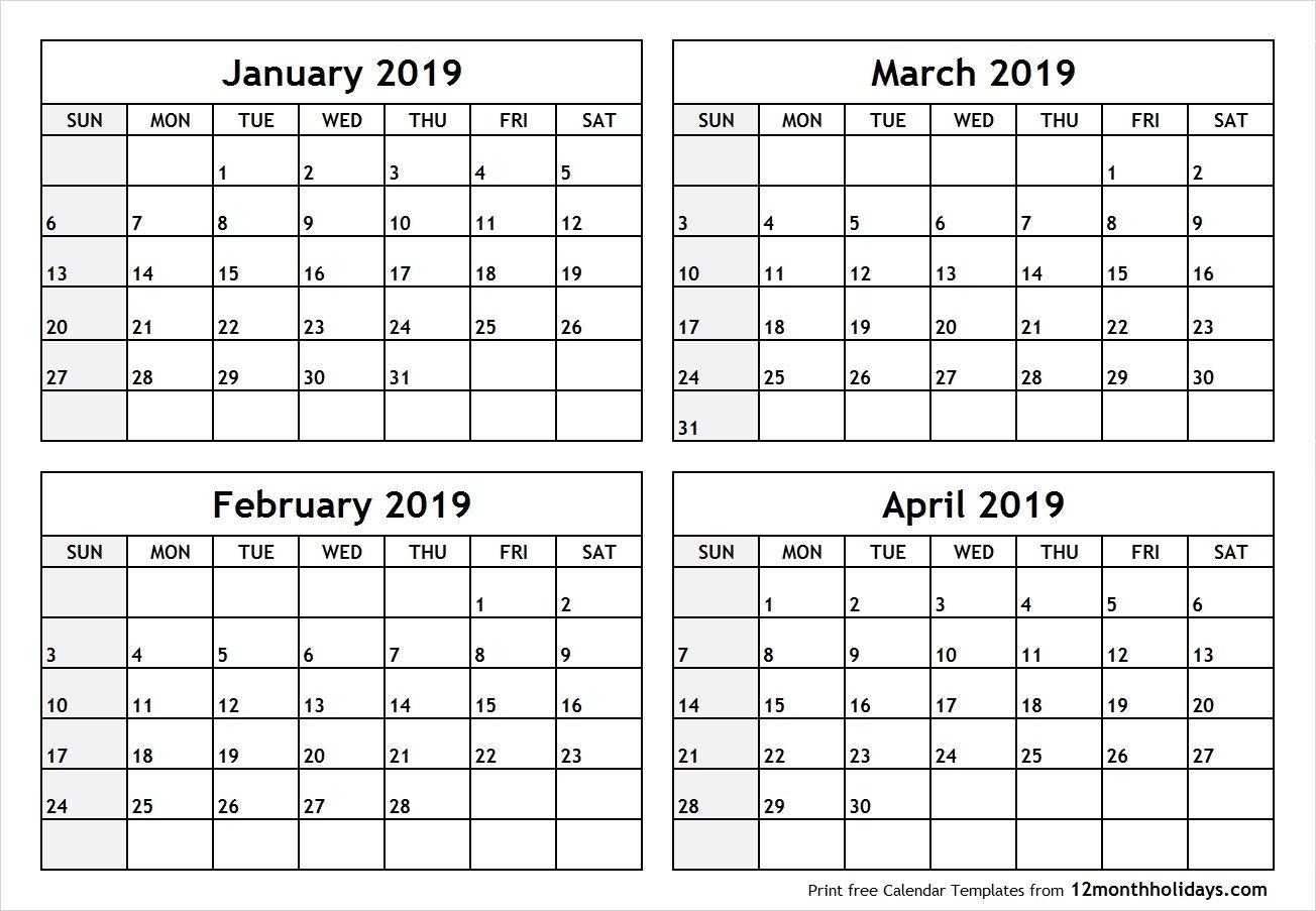 Printable 4 Month Calendar 2020 – Urgup.ewrs2018-Print