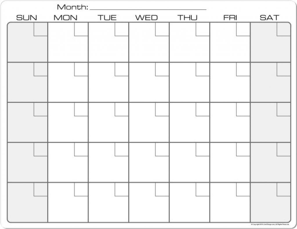 Printable Calendar 8 X 11 | Printable Calendar 2019-Blank