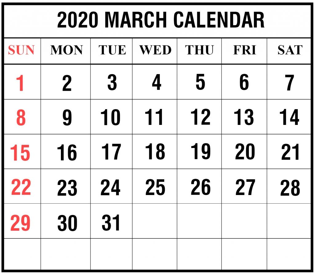 Printable Calendar April 2020 National Food Day | Example
