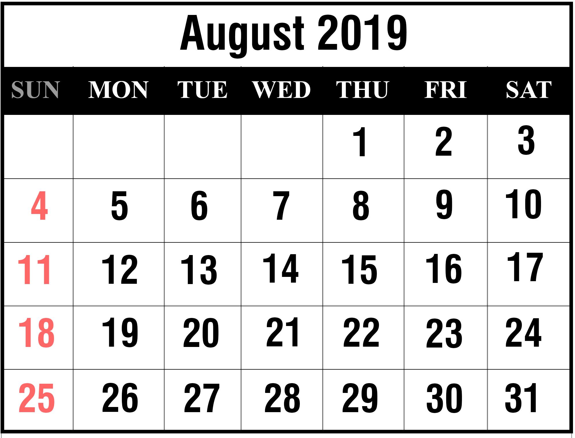 Printable Free Calendar 2017