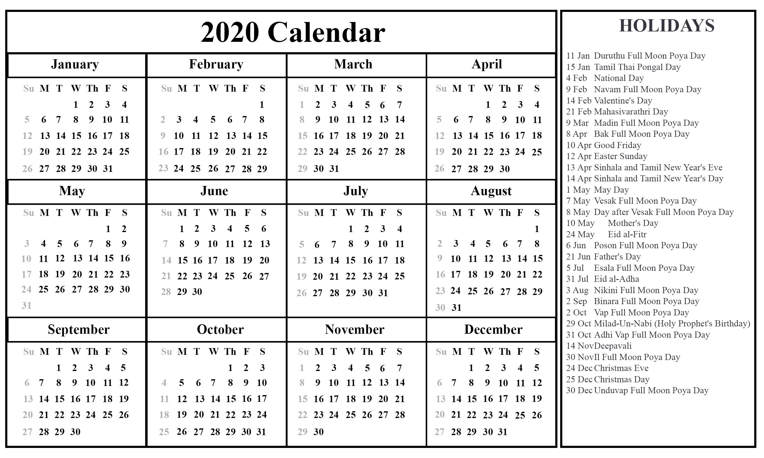 Printable September Calendar Template