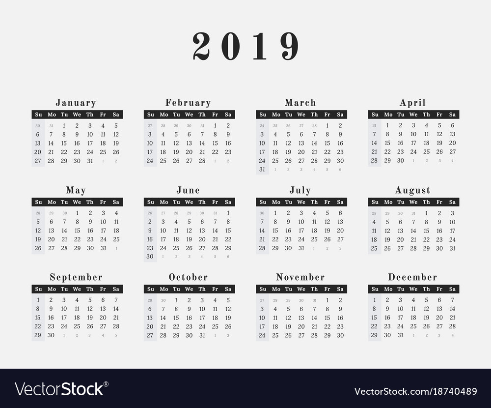 Three Year Calendar Printable