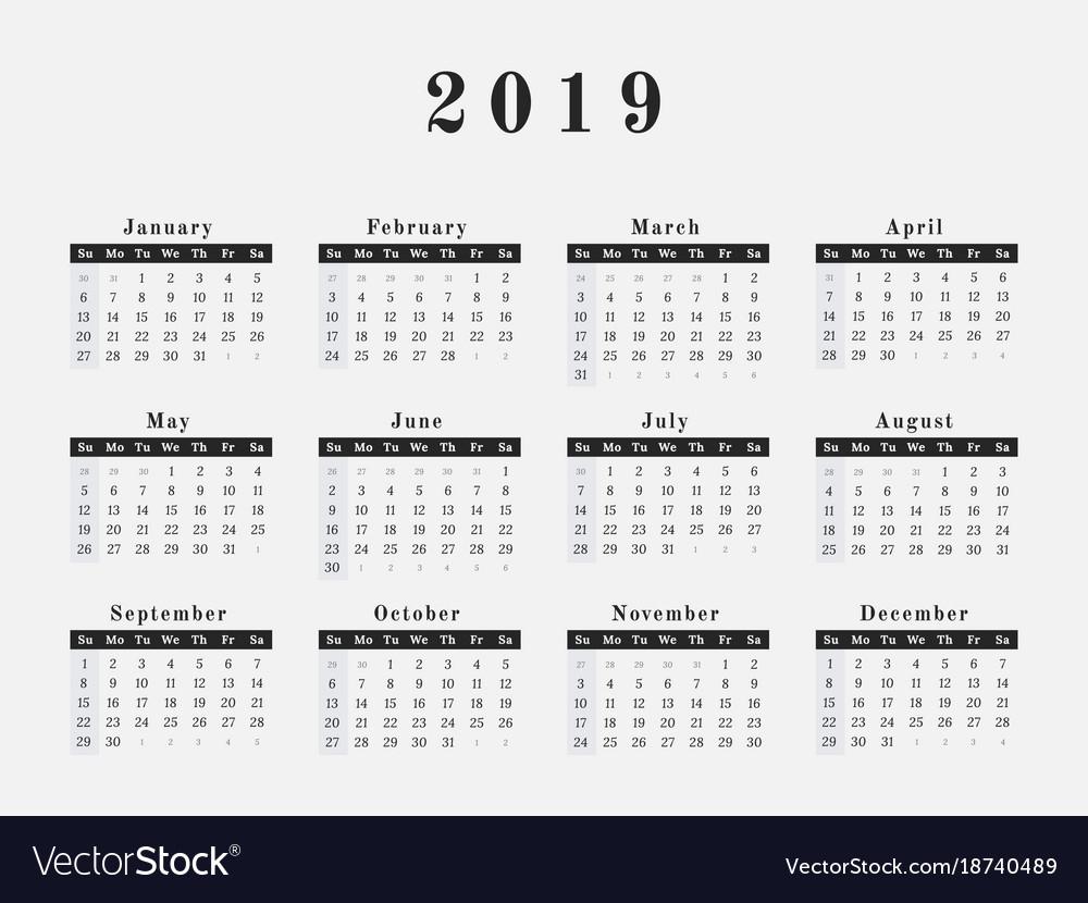 Three Year Calendar Printable
