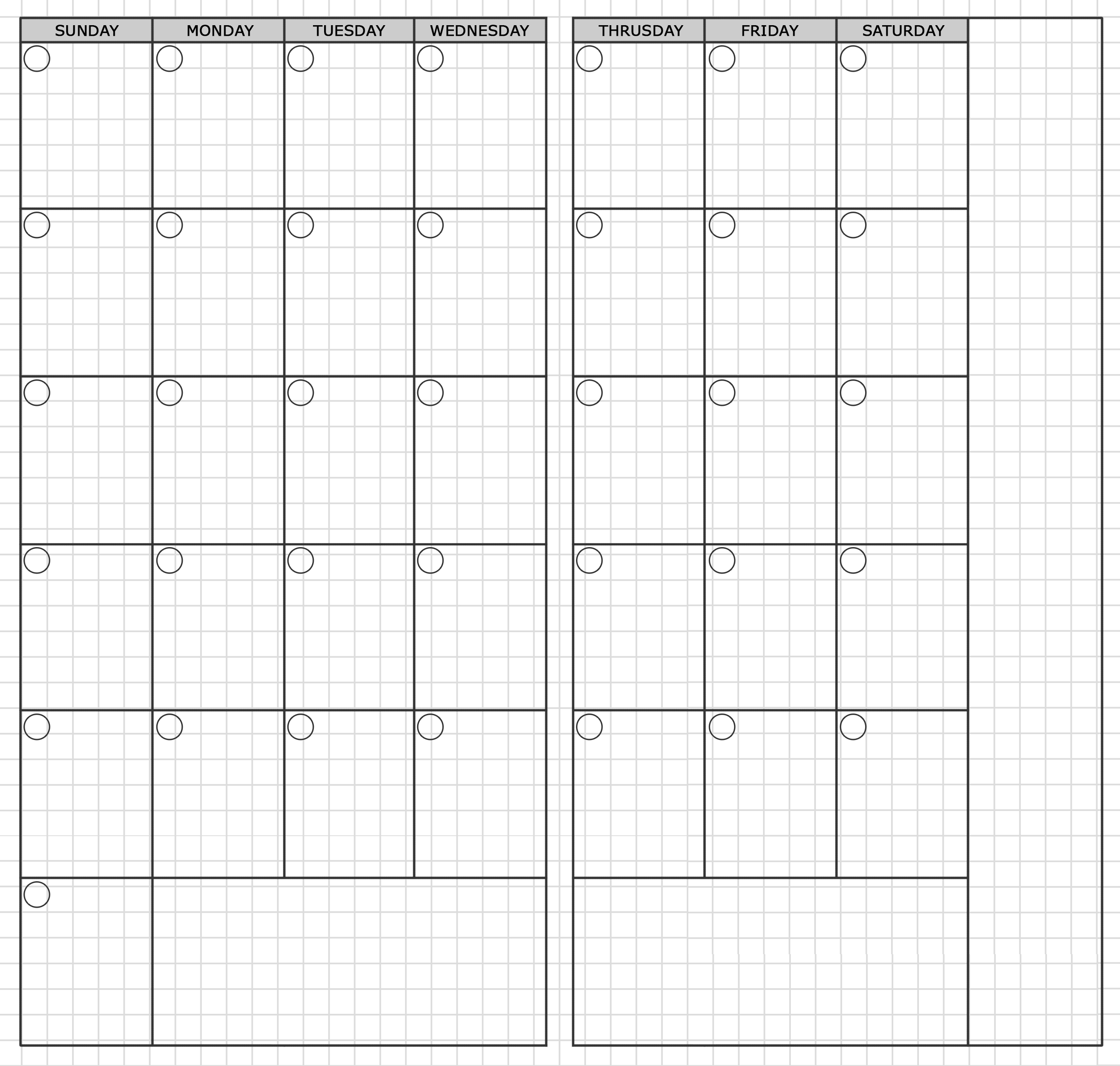 Traveler's Notebook Standard Monthly Printable | Travelers
