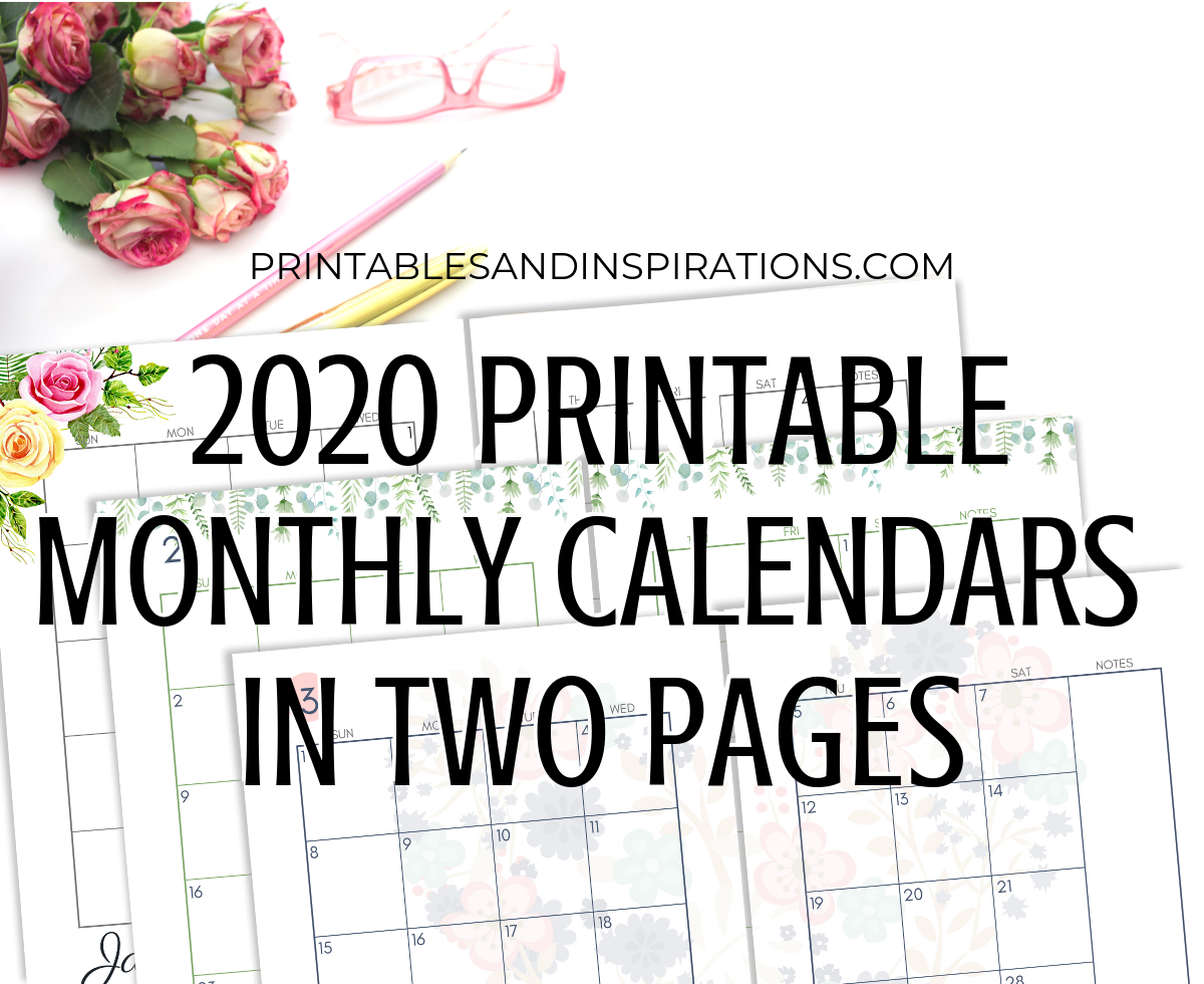 Two Months Calendar 2020 - Colona.rsd7