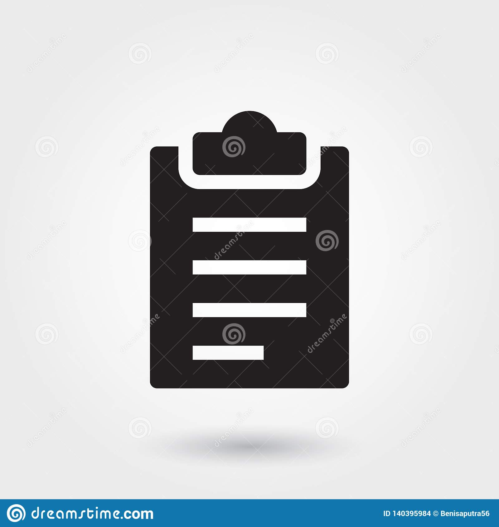 Vector, Clipboard Glyph Icon For Any Purposes Perfect For