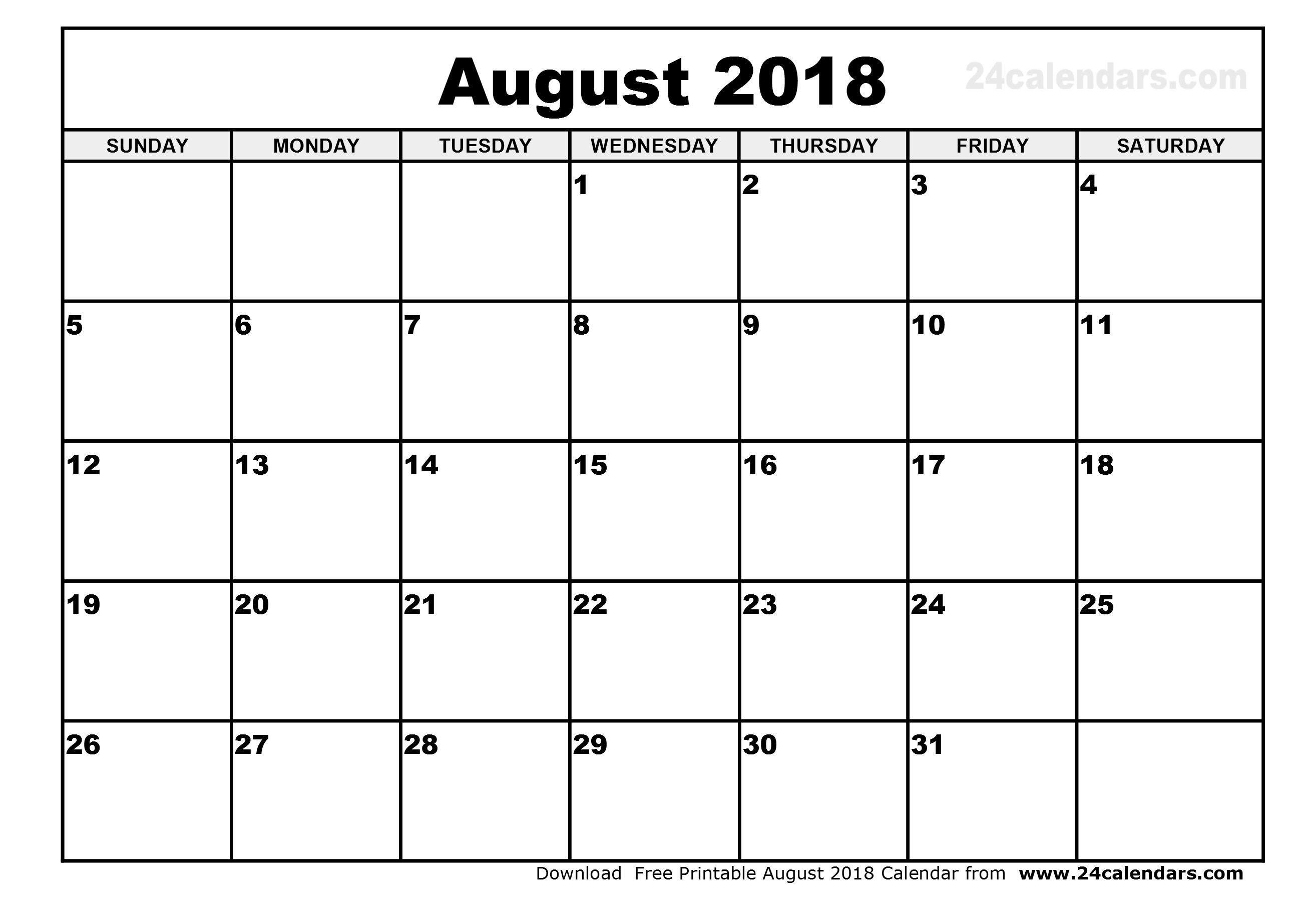 Yearly Calendars Printable