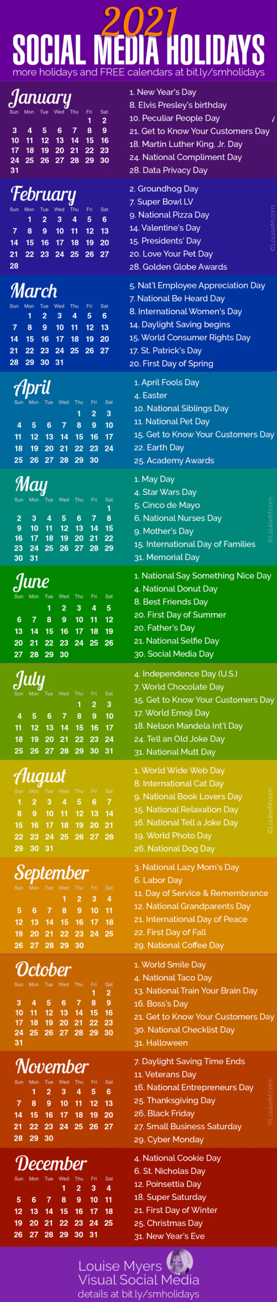 100+ Social Media Holidays You Need In 2020-21: Indispensable!