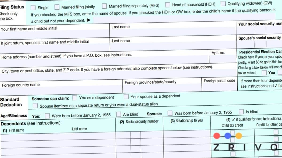 1040 Form 2021 - 1040 Forms - Zrivo