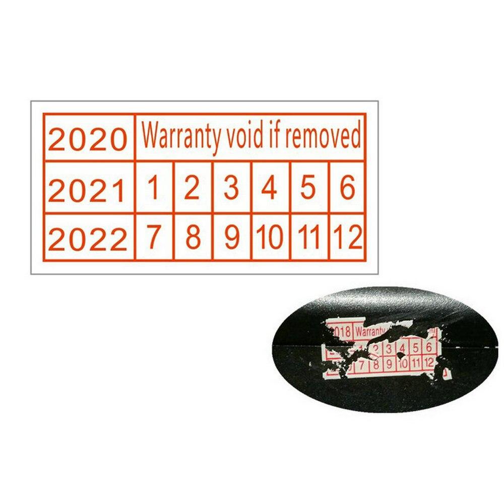 1100 Stücke Garantie Erlischt, Wenn Entfernt Fragile Aufkleber Sicherheit  Dichtung 2021 2022 2023 Jahr In Größe 20*10Mm Rot Farbe Rechteck Form