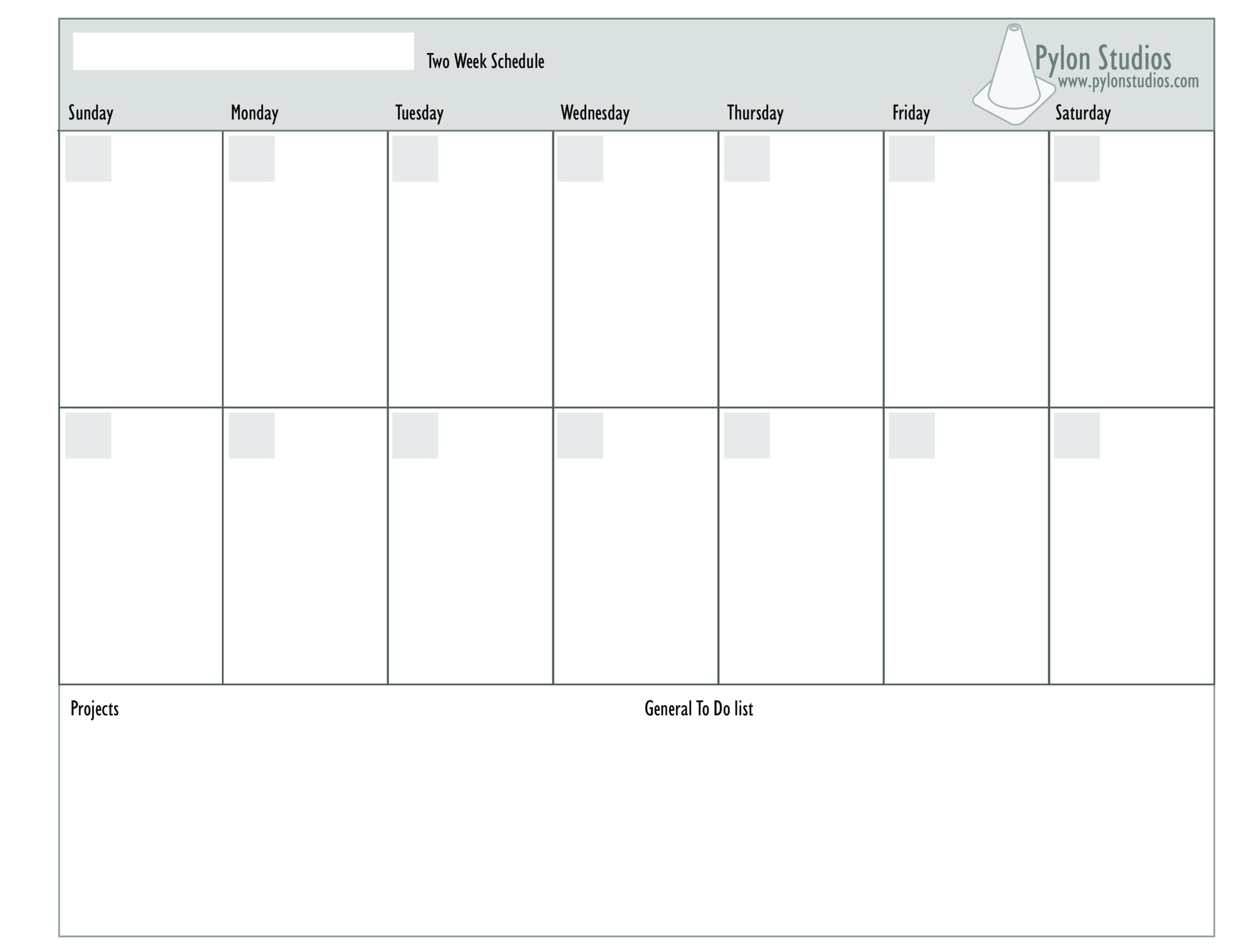 2 Week Calendar - How To Create A 2 Week Calendar? Download