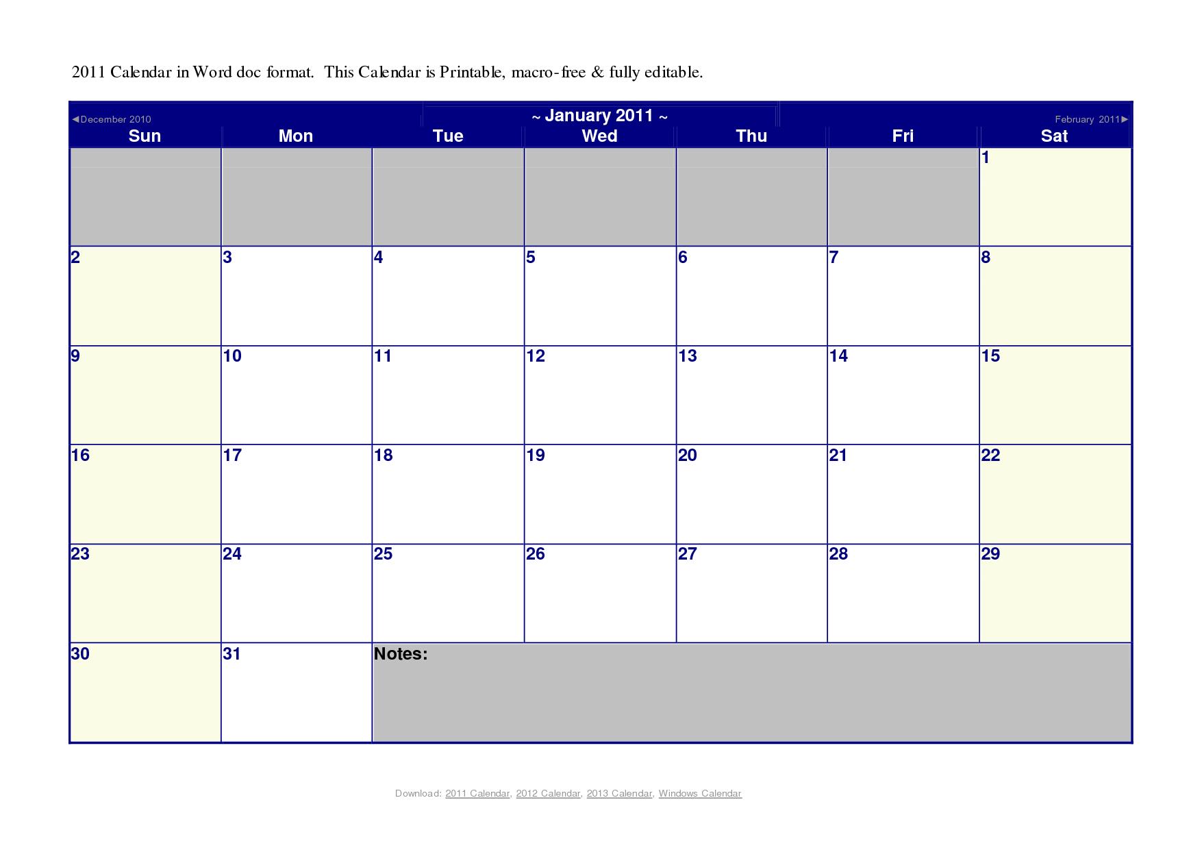 20 Microsoft Blank Calendar Template Images - Microsoft Word