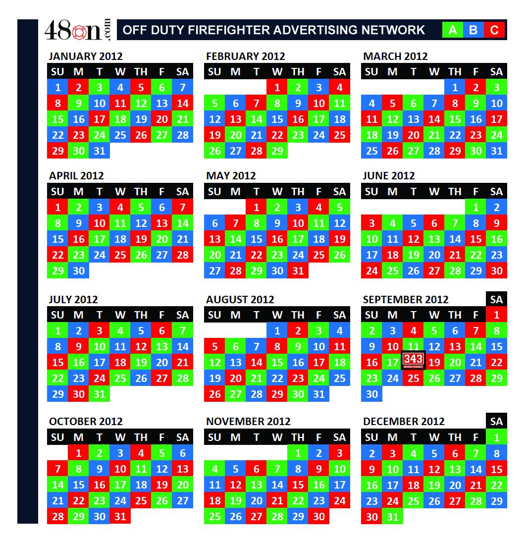 2012 Firefighter Shift Calendar – 48On Advertising – 48On