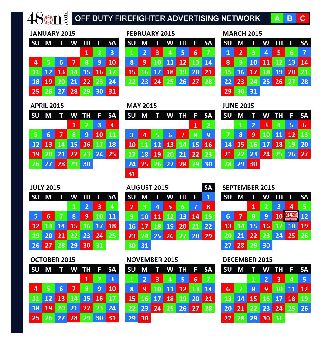 2015 Firefighter Shift Calendar – 48On Advertising – 48On