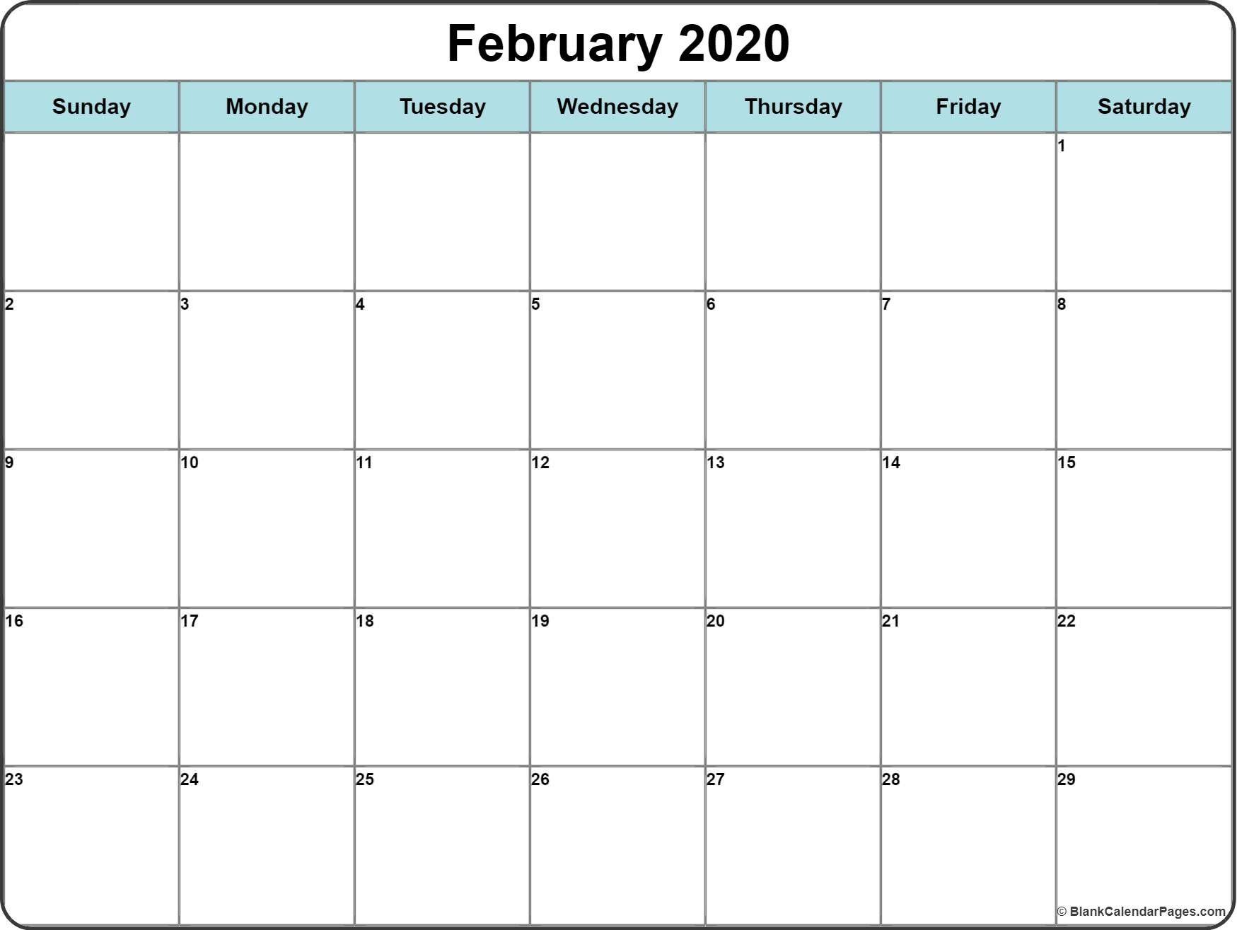 2020 Calendar With Space To Write | Printable Calendar
