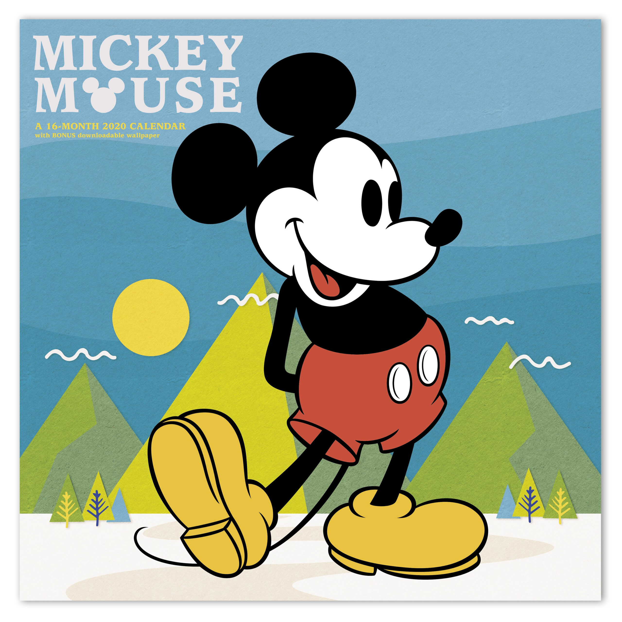 "2020 Disney Mickey Mouse 12"" X 12"" Monthly Wall Calendar - Walmart"