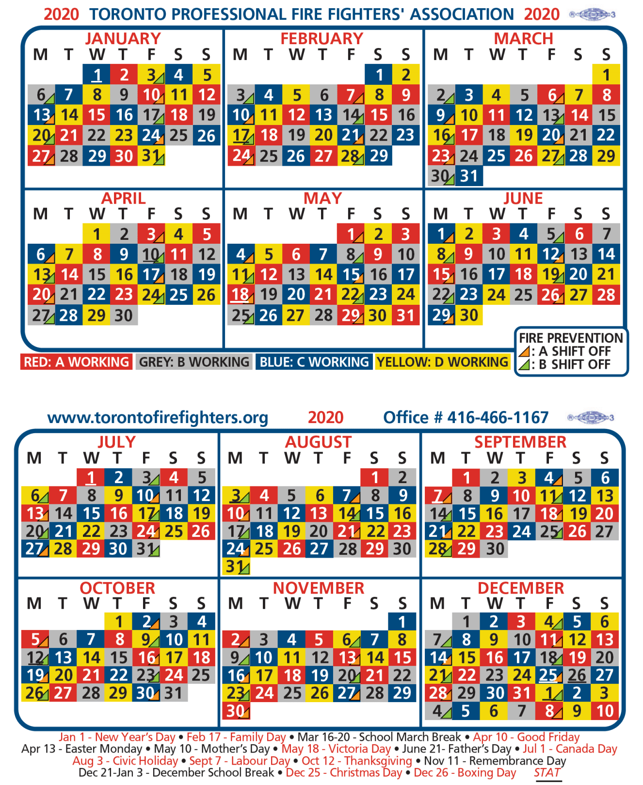 2020-Tpffa-Shift-Calendar | Greater Toronto Multiple Alarm