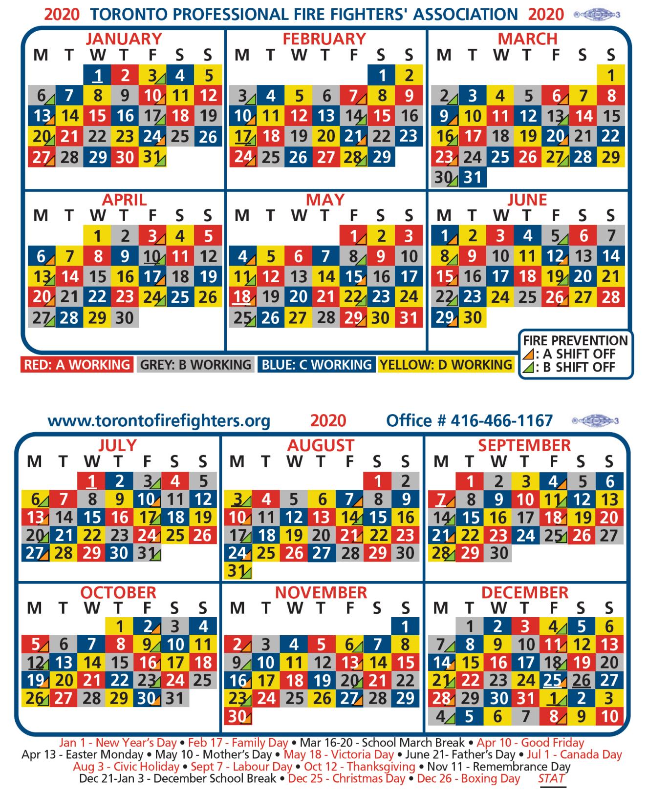 2020-Tpffa-Shift-Calendar   Greater Toronto Multiple Alarm