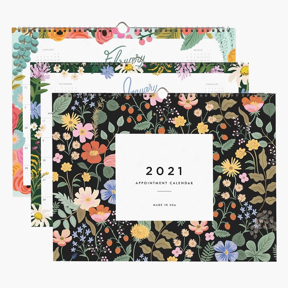 2021 Calendar Printing Enterprise Logo Chinese Style Home