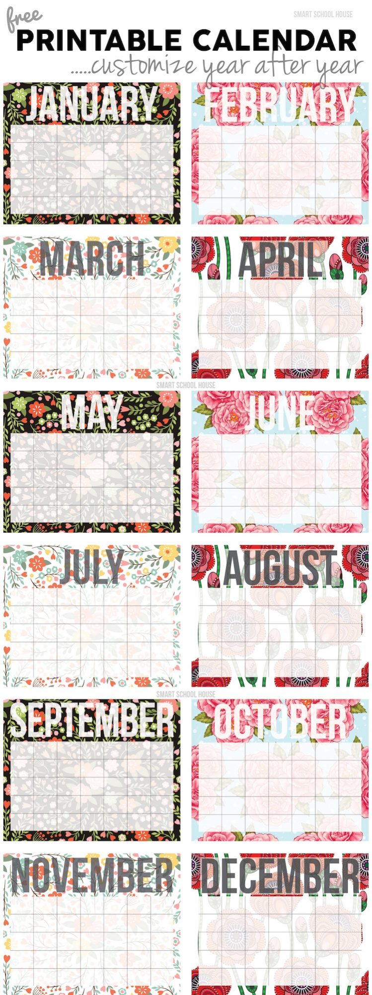 2021 Free Printable Calendars - 20+ Designs For Monthly