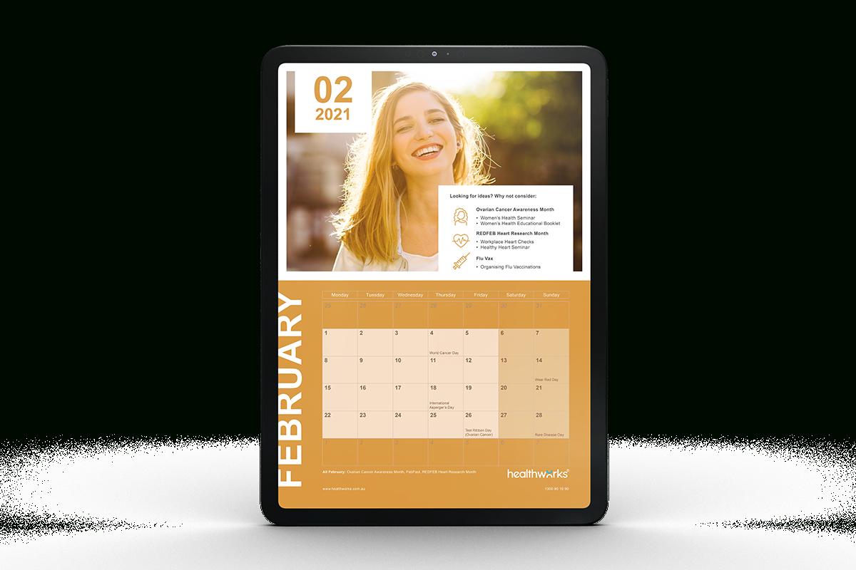 2021 Health Awareness Events Calendar For Corporate Wellness