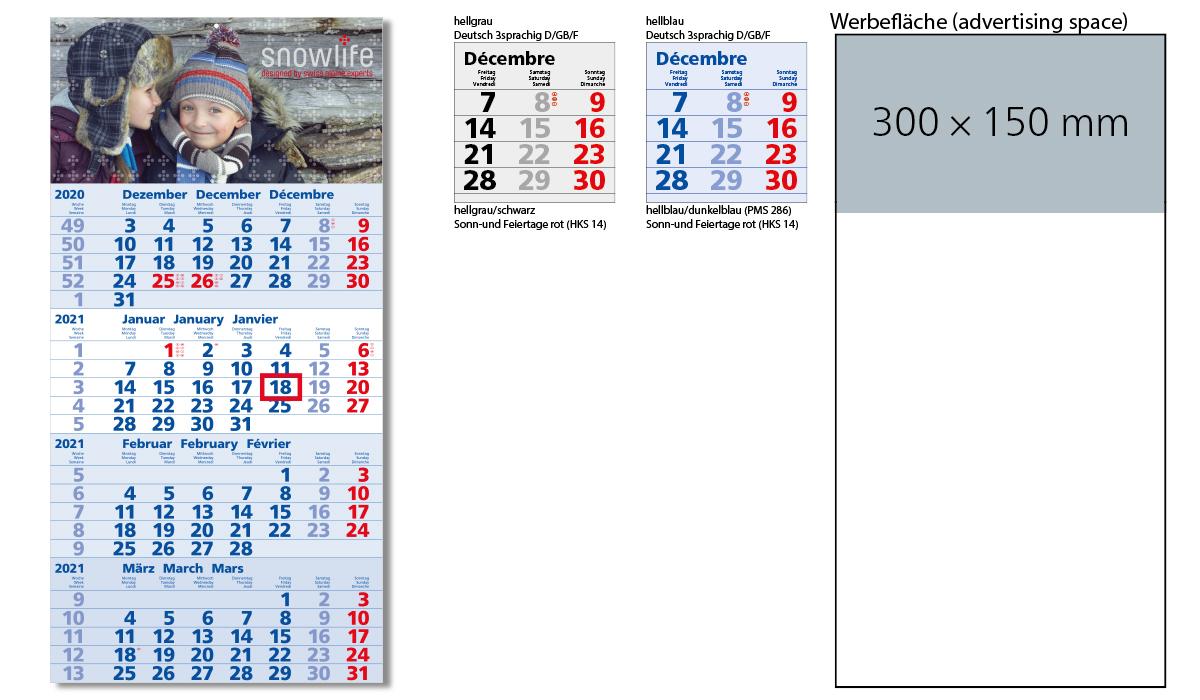 4-Month Calendar 2021 Mega 4 A | 4-Month Planner With Logo Printed |  Deprismedia
