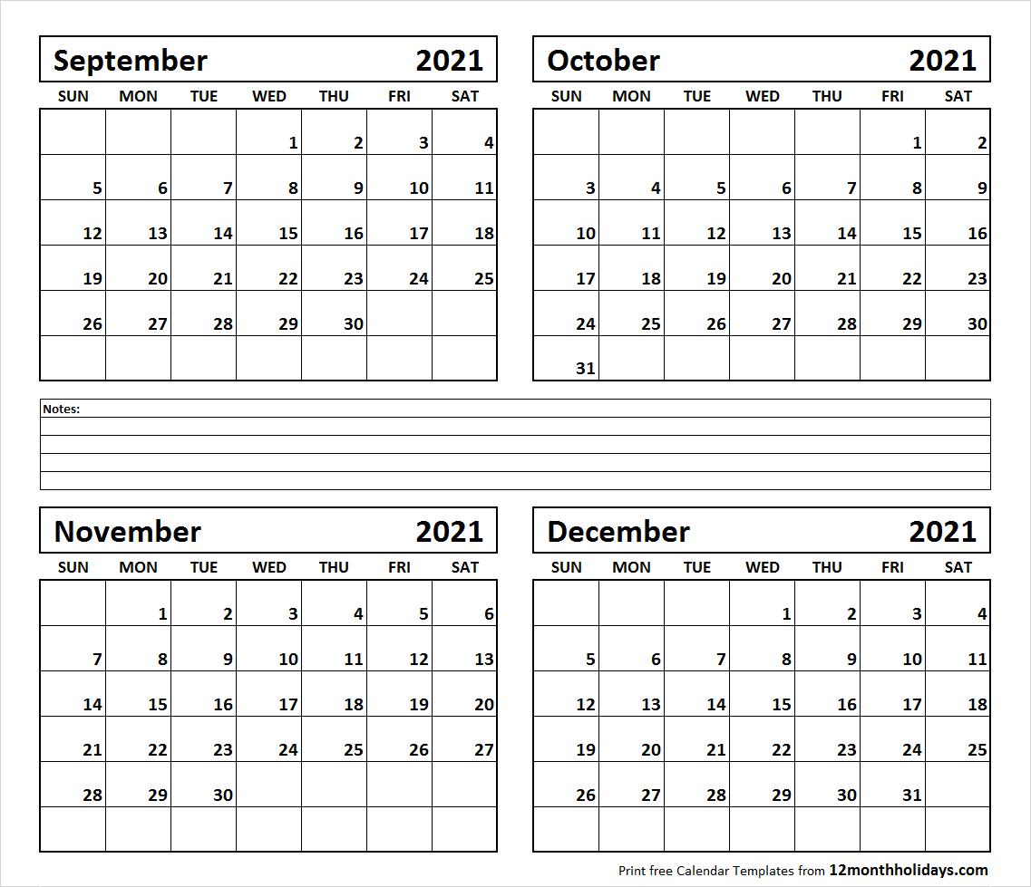 4-Month-September-October-November-December-2021-Calendar