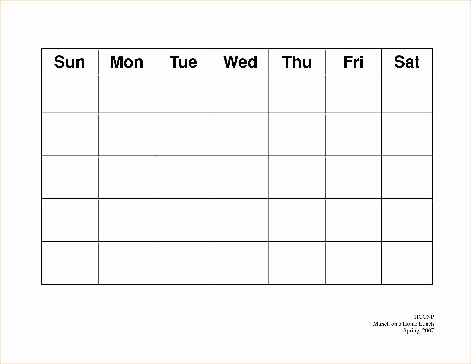 5 Day Schedule Template Elegant Free Printable 5 Day Monthly