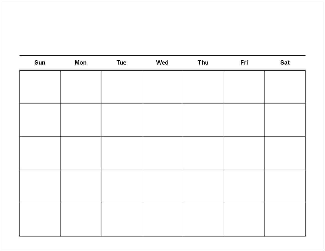 7 Day Calendar Template   Printable Calendar Grid, Free