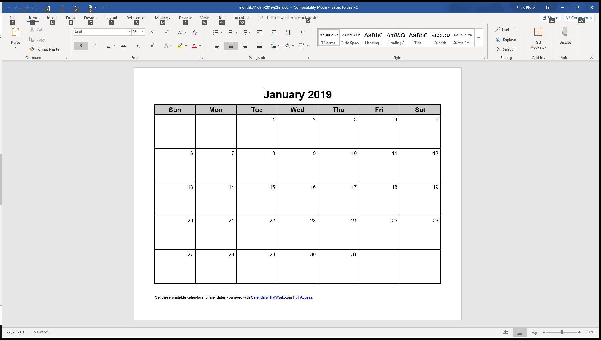 7 Top Place To Find Free Calendar Templates For Word