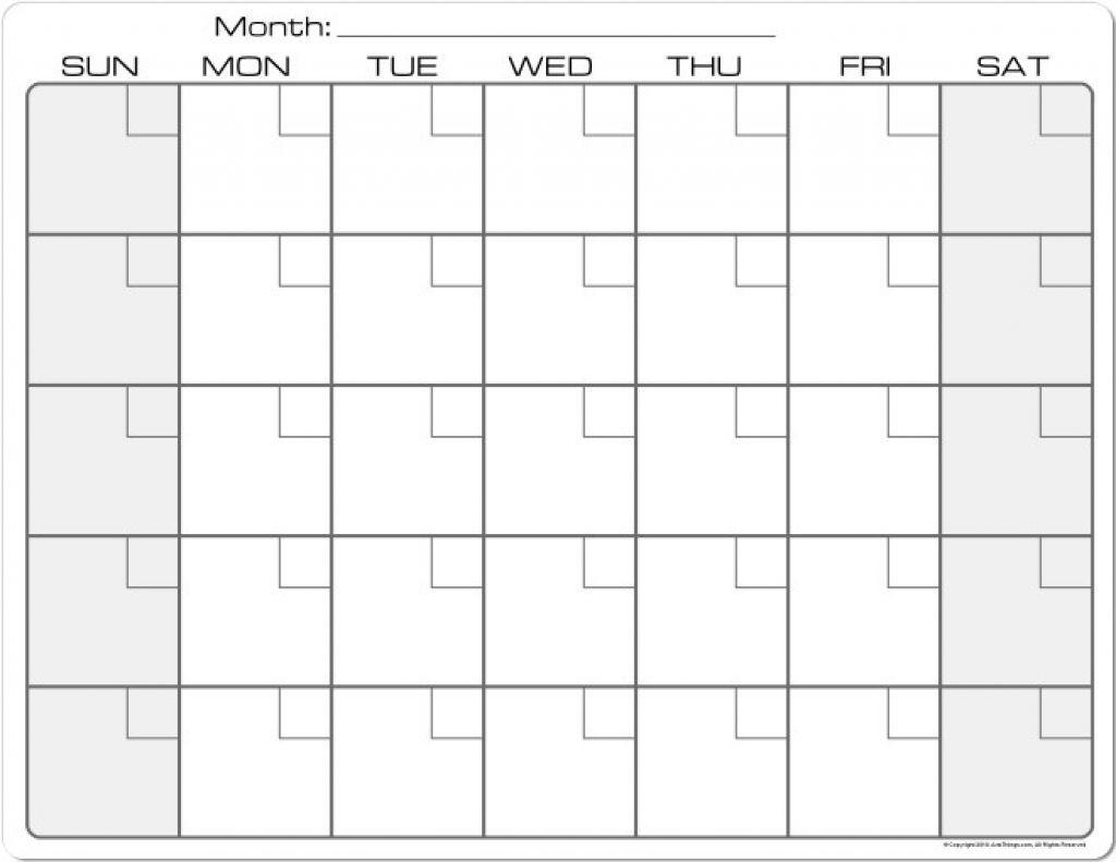 8.5 X 11 Printable Calendars   Blank Calendar Pages, Print