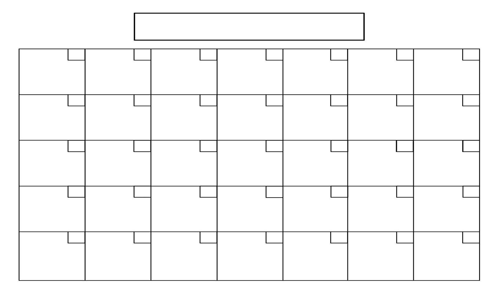 8.5 X 14 Calendar Template | Blank Calendar Pages, Blank