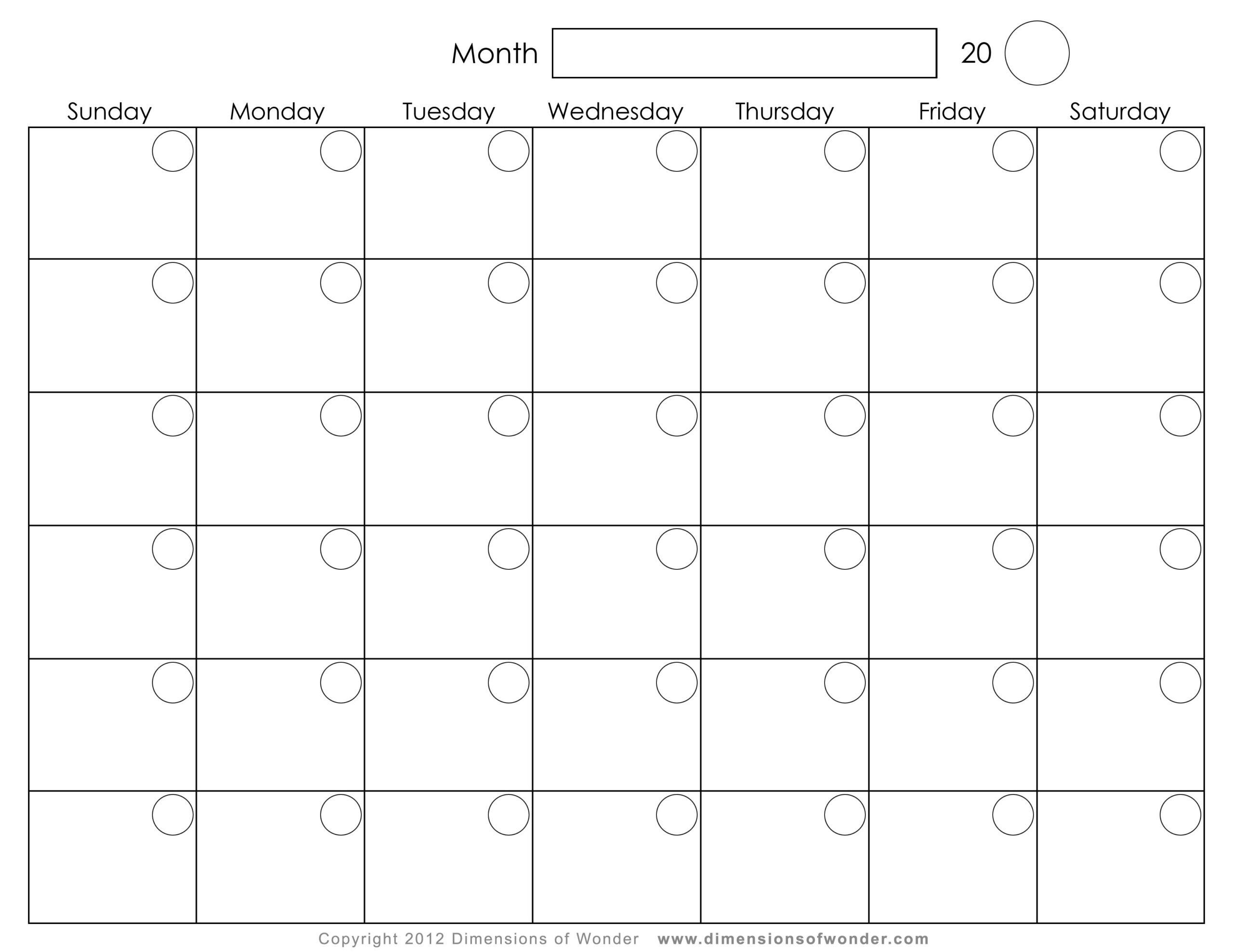 8 Best Monthly Calendar Printable - Printablee