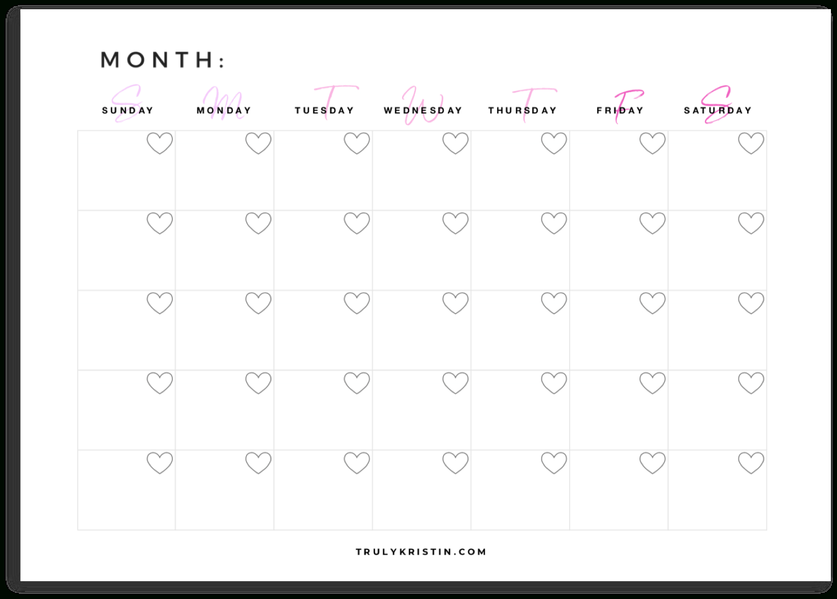 Account Suspended | Monthly Planner Template, Weekly Planner