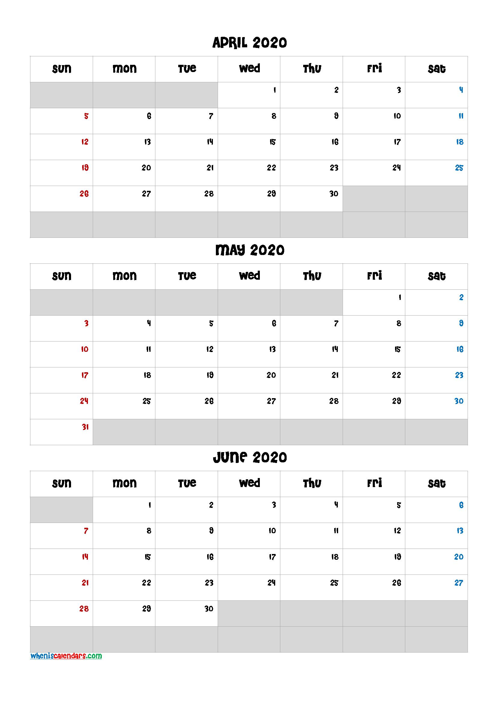 April May June 2021 Free Printable 3 Month Calendar-21Ch5
