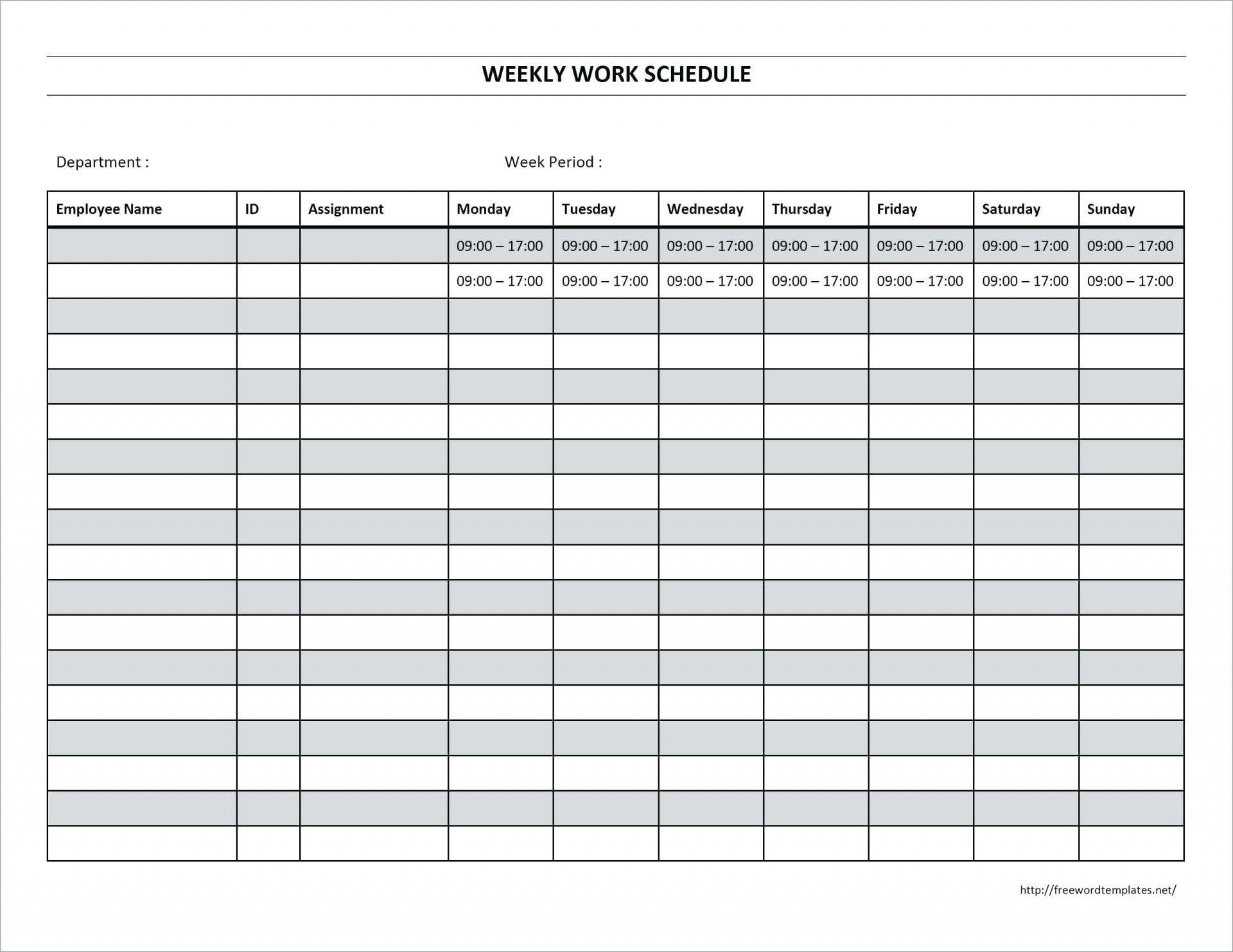 Bi Weekly Employee Schedule Template Excel Here'S What No