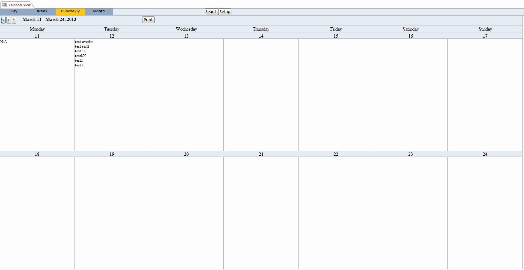 Bi Weekly Schedule Template Awesome Calendar Scheduling