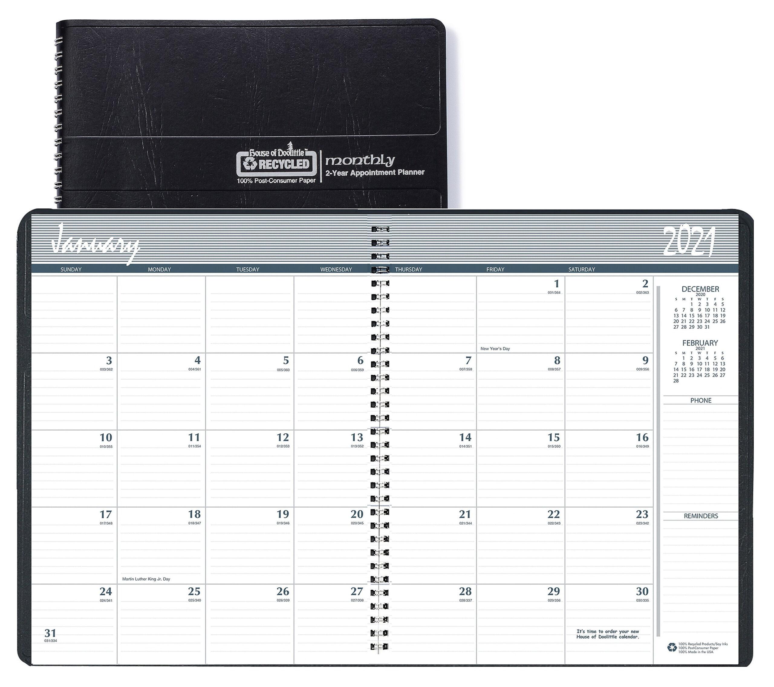 Blue Sky 2021 8.5 X 11 2-Year Monthly Planner, Black 26200221 - Walmart