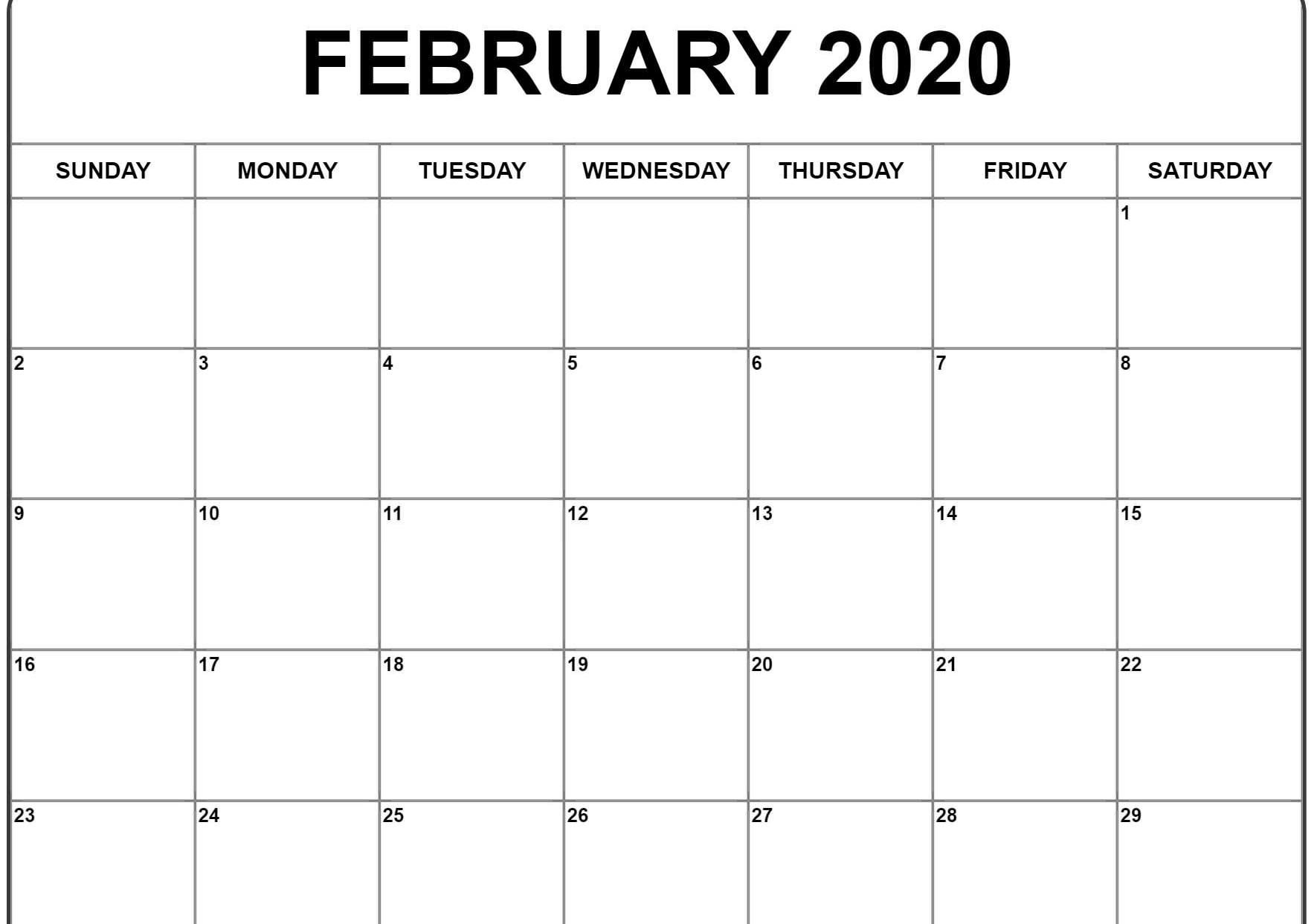 Calendar Of February 2020 Word | Calendar Template, Calendar