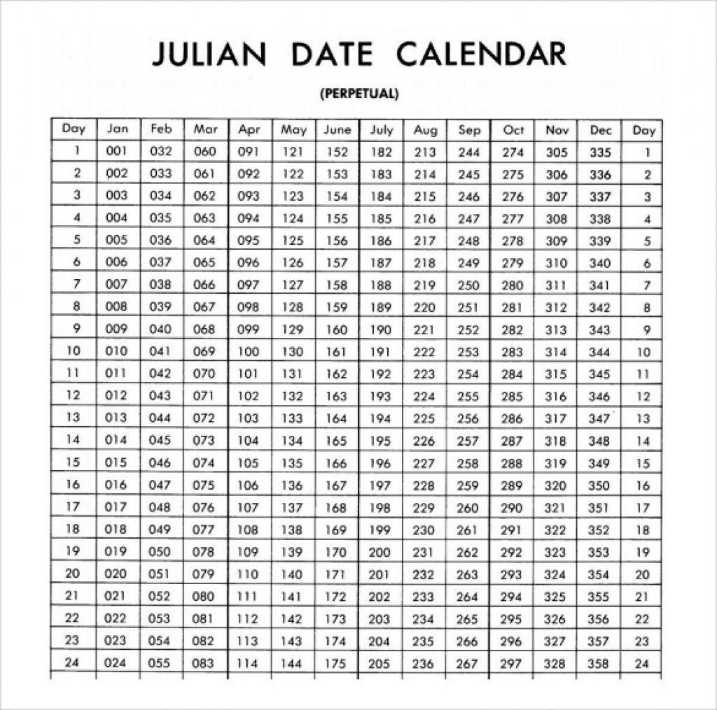 Calendar Year Julian Date | Julian Dates, Calendar Template