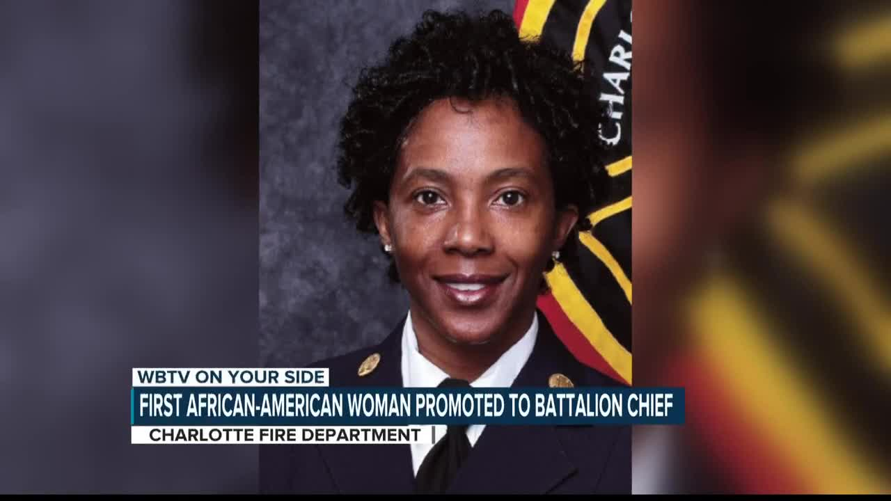 Charlotte Fire Department Promoting First African American